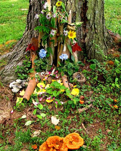 a fairy house for midsummer eve
