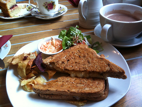 Mega cheese toastie at Mrs Muffins, Ledbury