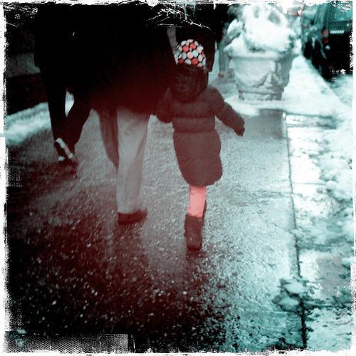 girl in a polka dot hat