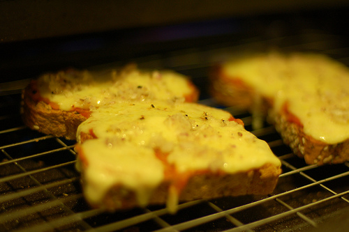Cheese on toast - tosting