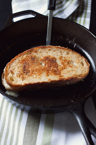 Rosemary, Cheddar and Gouda Grilled Cheese